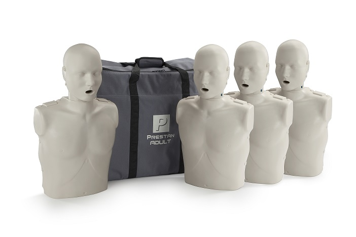 Prestan Professional Adult CPR-AED Training Manikins 4-Pack - No Monitor