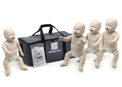 Prestan Professional Infant CPR-AED Training Manikins 4-Pack (with monitor)